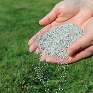 fertilizer being spread by hand